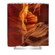 Slot Canyon Detail Corkscrew Or Upper Antelope Slot Canyon Arizona Shower Curtain