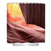 Slot Canyon Sun Shower Curtain
