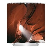 Antelope Canyon Sunbeam Shower Curtain