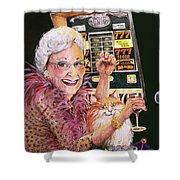 Slot Machine Queen Shower Curtain
