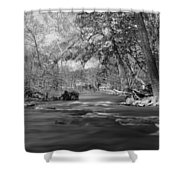 Slow Down At The River Shower Curtain