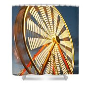 Slow Down The Ferris Wheel Shower Curtain
