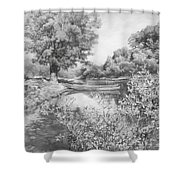 Slow River  Shower Curtain