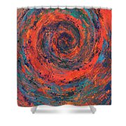 Slow Temporal Repeat Shower Curtain