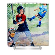 Slugger And Kicker Shower Curtain