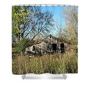 Small Abandoned Shed Shower Curtain