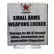 Small Arms Signage Russian Submarine Shower Curtain