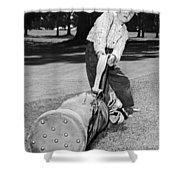 Small Boy Totes Heavy Golf Bag Shower Curtain