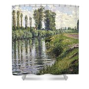 Small Branch Of The Seine At Argenteuil Shower Curtain