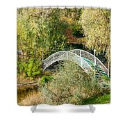 Small Bridge In The Park Shower Curtain