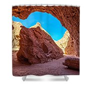 Small Canyon In Chile Shower Curtain