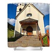 small church in Penia Shower Curtain