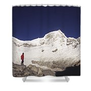 Small Climber Big Peaks Shower Curtain