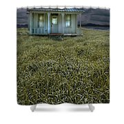 Small Cottage In Storm Shower Curtain