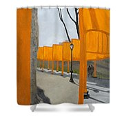 Small Gates Shower Curtain by Karin Thue