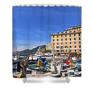 small harbor in Camogli. Italy Shower Curtain