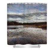 Small Lake Scene Shower Curtain