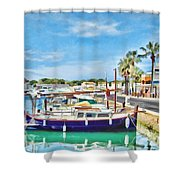 Small Marina Shower Curtain