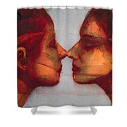 Small Mirror Twin Shower Curtain by Graham Dean