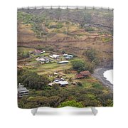 Small North Maui Town Shower Curtain