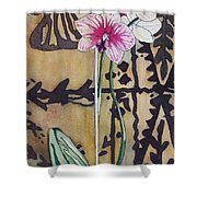 Small Orchids Shower Curtain