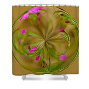 Small Pink Buds Shower Curtain