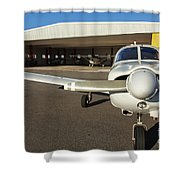 Small Planes In Private Airport Shower Curtain