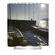 Small Port In Backlight Shower Curtain
