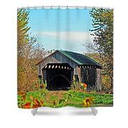 Small Private Country Bridge Shower Curtain