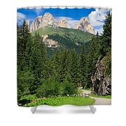 Small Road Along The River Shower Curtain