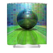 Small Scenes Ball Shower Curtain