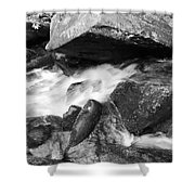 Small Stream Smoky Mountains Bw Shower Curtain