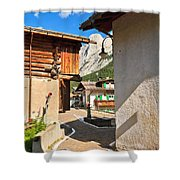 small street in Penia Shower Curtain