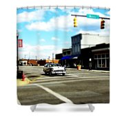 Small Town 3 Shower Curtain