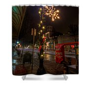 Small Town Christmas Ohio Shower Curtain