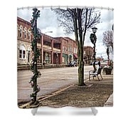 Small Town Christmas Shower Curtain