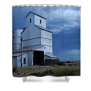 Small Town Hot Night Big Storm Shower Curtain