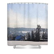 Small Village Shower Curtain by Aged Pixel