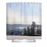 Small Village Shower Curtain