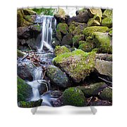 Small Waterfall In Marlay Park Dublin Shower Curtain