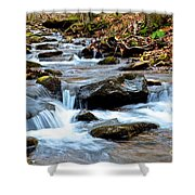 Small Waterfall In Western Pennsylvania Shower Curtain