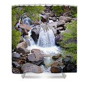 Small Waterfall Near Hwy 120 Roadside In Yosemite Np-ca- 2013 Shower Curtain