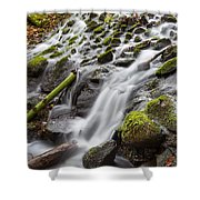 Small Waterfalls In Marlay Park Shower Curtain