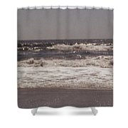 Small Waves Shower Curtain
