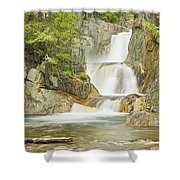 Smalls Falls In Western Maine Panorama Shower Curtain