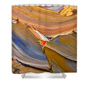 Smeared Paint Shower Curtain by Louise Heusinkveld
