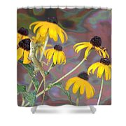 Smell The Flowers Lizard Shower Curtain