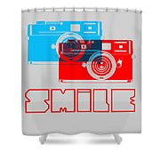 Smile Camera Poster Shower Curtain