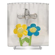 Smile Flower Shower Curtain