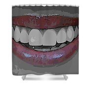 Smile Poster Shower Curtain